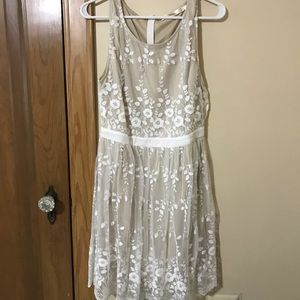 White & Champagne Dress